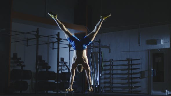 Thumbnail for Athlete Working Out on Bars Training Stamina