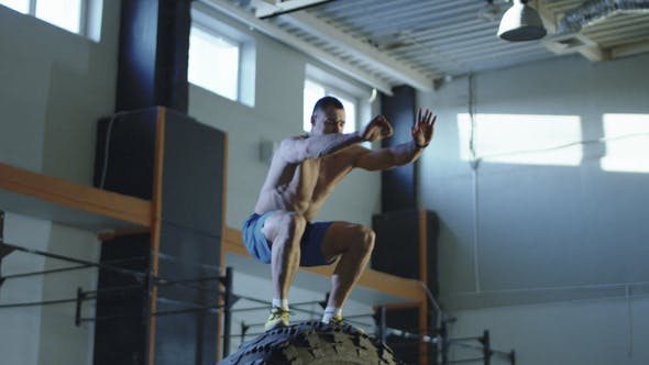 Thumbnail for Man Doing Crossfit Exercise with Big Tyre
