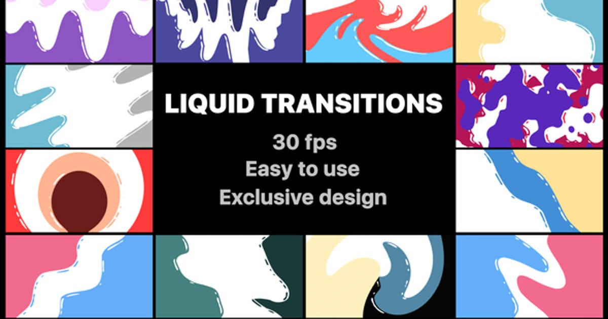 Download Flash FX Liquid Transitions by MisterFlashAnimation