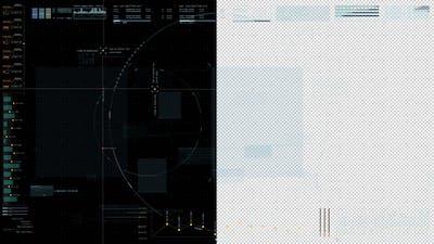 Hi Tech User Interface Head Up Display Screen Background 02