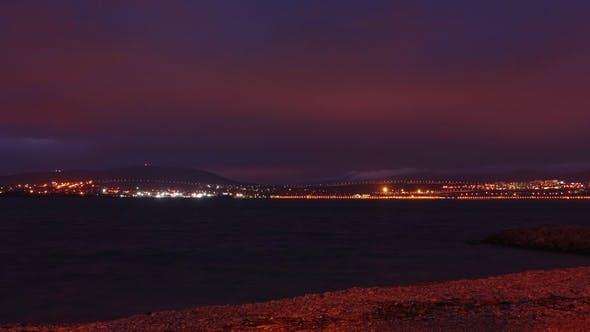 Thumbnail for Mediterranean Sea Coast Night Landscape.