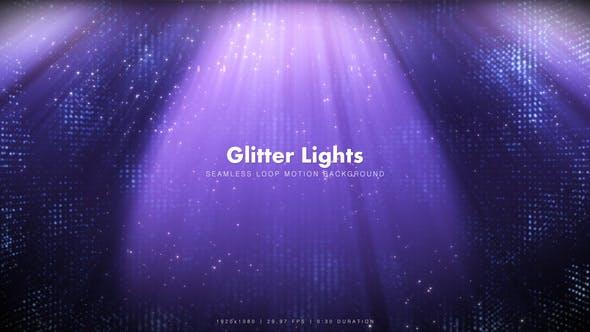 Purple Glitter Lights