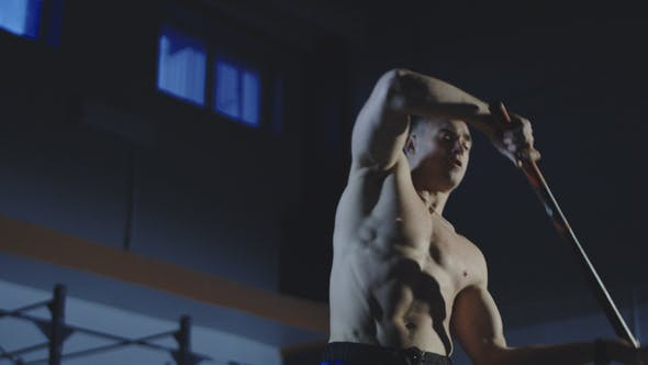 Thumbnail for Man Doing Crossfit Exersices with Hammer at Gym