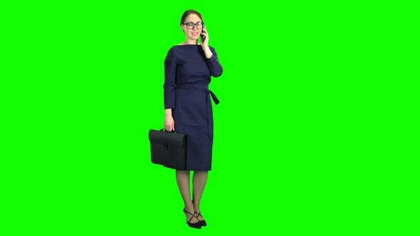 Thumbnail for Businesswoman Stand and Talking on the Phone