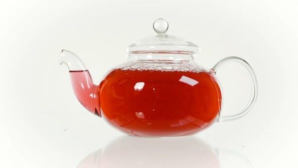 Thumbnail for Frischer Kräutertee in einer Glas-Teekanne und einer Tasse, Tea Rose