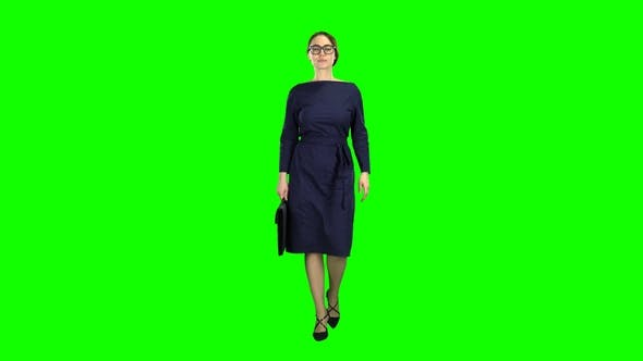Thumbnail for Businesswoman Goes To a Business Meeting with a Case in Hand