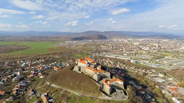 Thumbnail for Palanok Castle at Day and the City of Mukachevo