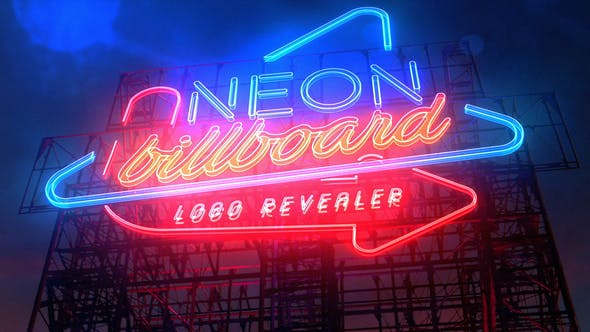 Thumbnail for Neon Billboard Logo Revealer