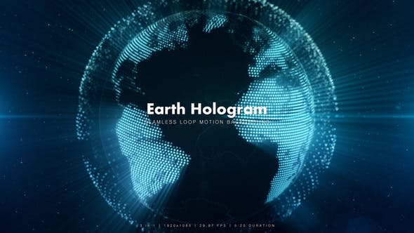 Thumbnail for Earth Hologram With Rays 5