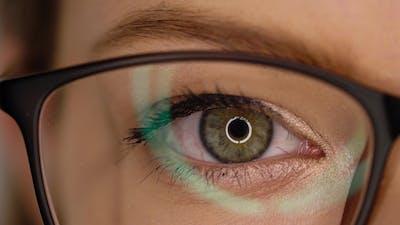 Eye in Glasses Blinking