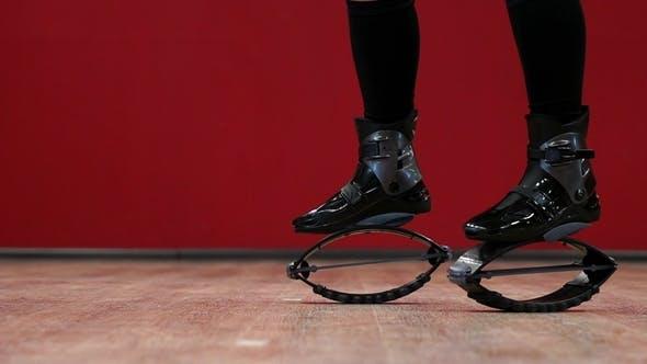 Thumbnail for Sport Girl Holding Kangoo Jumps