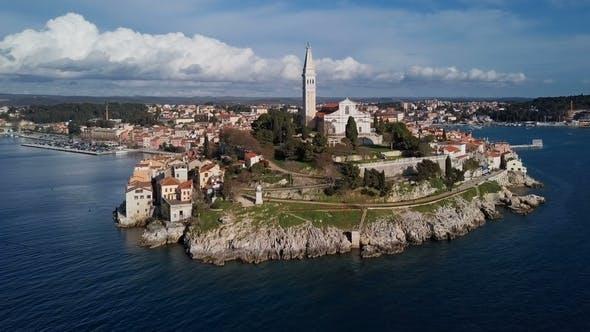Thumbnail for Aerial View of Rovinj in Croatia