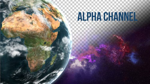 Earth Alpha Channel