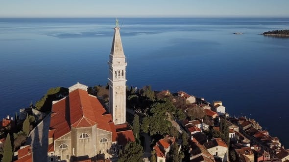 Thumbnail for Flight Around Rovinj Church, Croatia