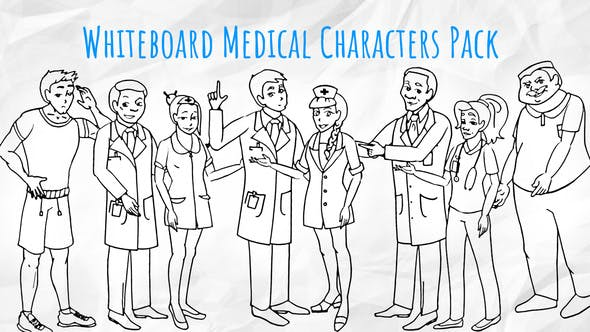 Thumbnail for Medical Characters - Healthcare Whiteboard Animation