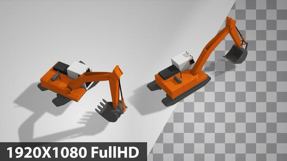 Thumbnail for Lowpoly Excavator Back Side