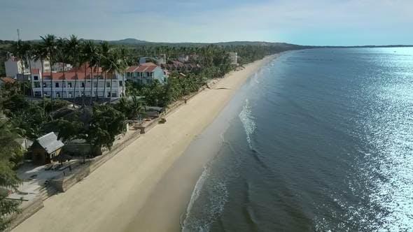 Thumbnail for Inns near Peaceful Ocean with Sunshine Reflection