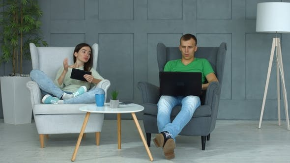 Thumbnail for Casual Couple Networking with Digital Devices at Home