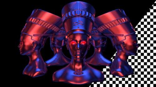 Nefertiti Heads VJ Loop