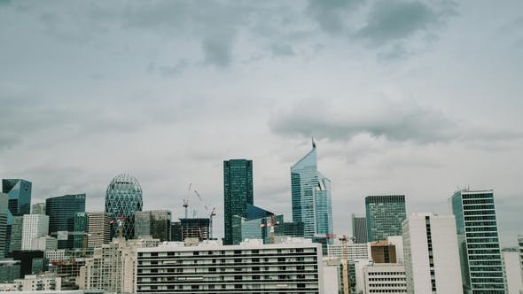 Thumbnail for Paris, Financial District La Defense, Cloudy Day,