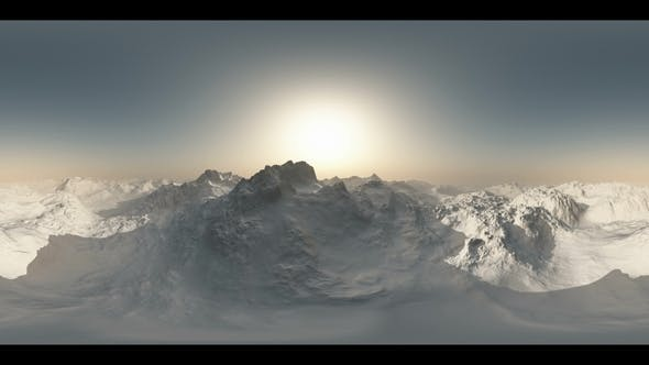 Thumbnail for Aerial VR 360 Panorama of Mountains
