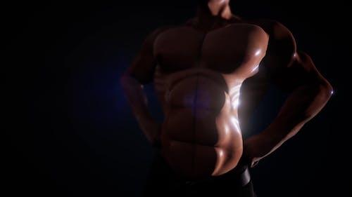 Sehr starker Bodybuilder