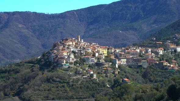 Thumbnail for Ancient Town of Perinaldo High in the Alps in the West of Italy