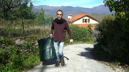 Collecting Rosemary in the Alps
