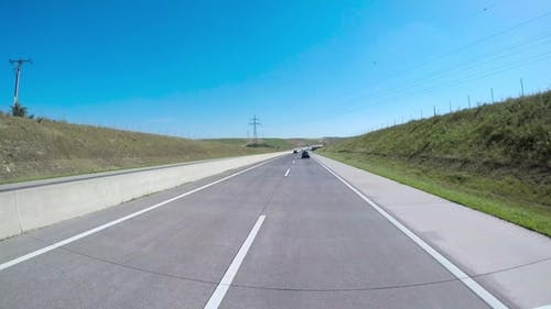 Car Driving on the Autobahn