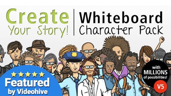 Thumbnail for Create Your Story Whiteboard Character Pack