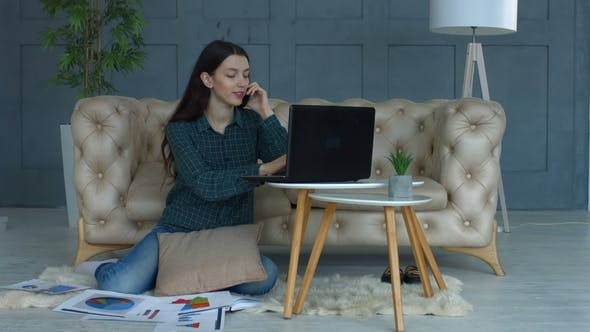 Thumbnail for Successful Freelance Woman Working in Home Office