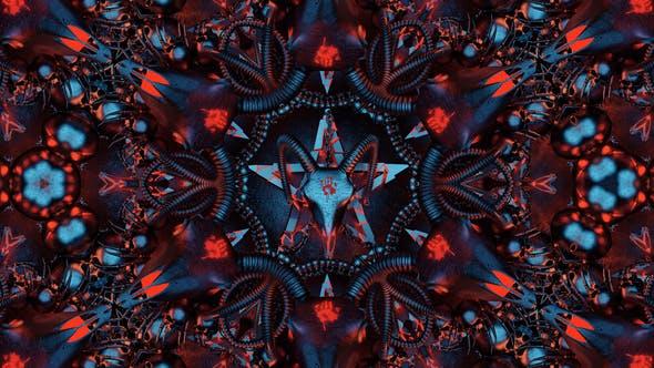 Teufelszeichen Mandala