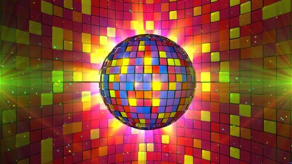 Colorful Disco Ball