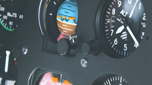 High-tech Dashboard of Helicopter Cockpit