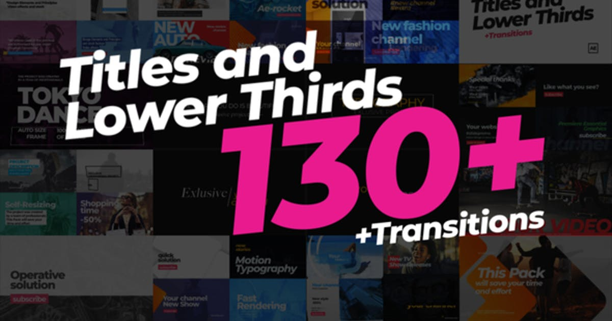 Download 130 Titles Lower Thirds by ae-rocket