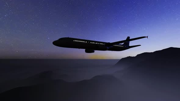 Thumbnail for Milky Way And Silhouette Of A Airplane