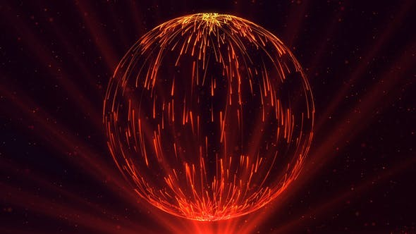 Thumbnail for Abstract Sphere of Particles with Light Rays