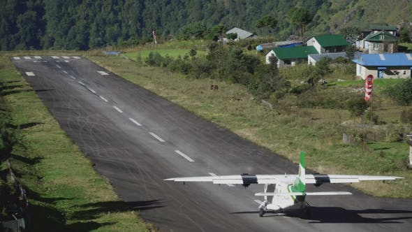 Thumbnail for Small Airplane Taking off from Tenzing-Hillary Airport in Lukla to Kathmandu