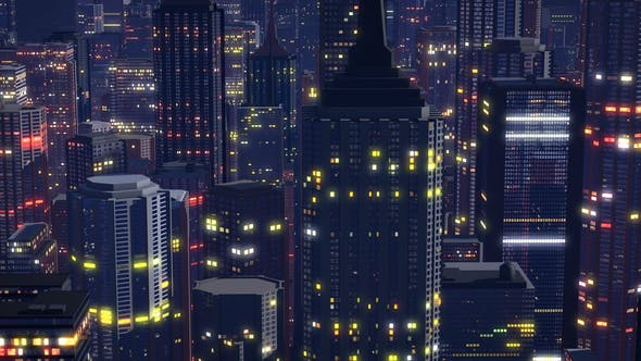Thumbnail for Night City Seamless Background 4K