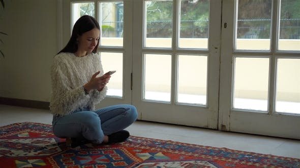 Thumbnail for Young Woman Sitting in Lotus Position Indoor