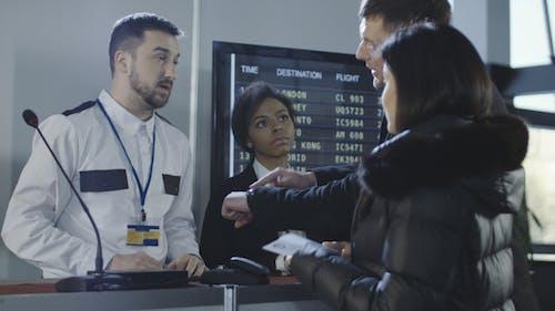 Businesspeople Having Visa Denial Problem in Airport