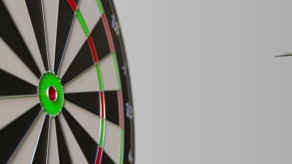 Thumbnail for Dart Hits Bullseye of the Target