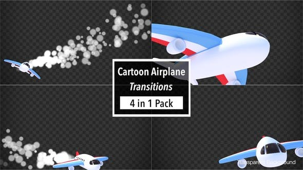 Thumbnail for Cartoon Airplane Transitions Pack