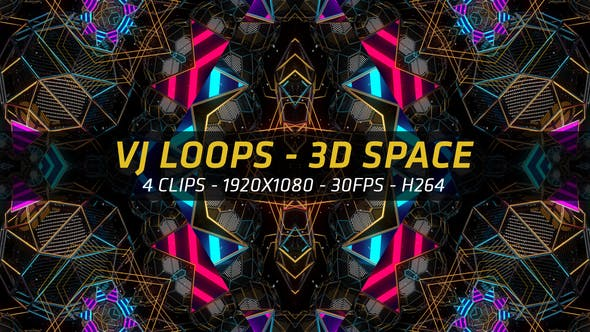 Thumbnail for VJ Loops - 3D Space