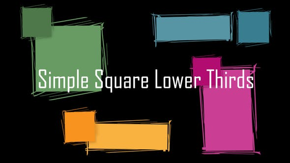 Simple Square Lower Thirds