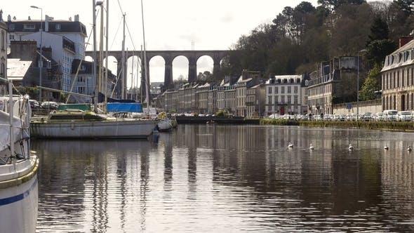 Thumbnail for Viaduct and Yachts at Morlaix
