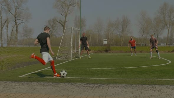 Thumbnail for Young Soccer Player Performing Corner Kick