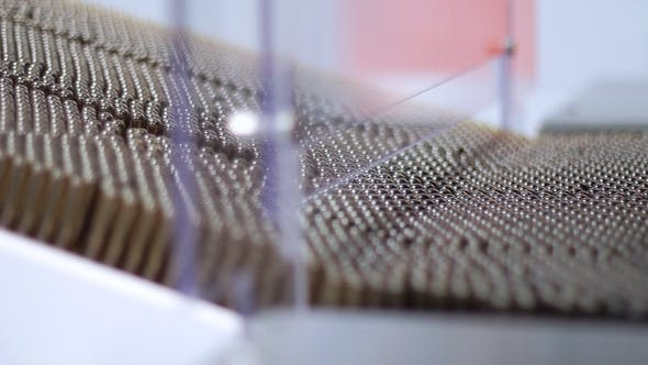 Thumbnail for Multiple Medical Vials on Production Line Pharmaceutical Factory Manufacturing