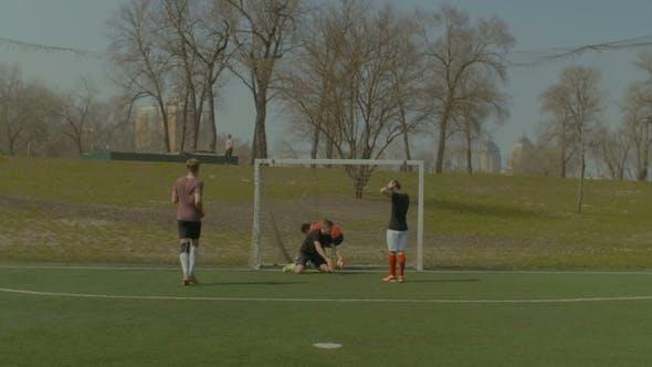 Thumbnail for Striker Celebrating a Goal During Football Match