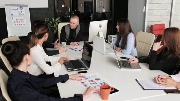 Thumbnail for Young Business People Group Have Meeting and Working in Modern Office